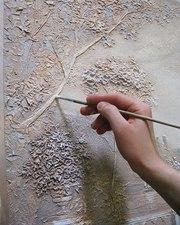Барельефы , рельефная роспись стен,  рельефные картины.