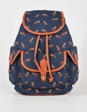 Рюкзак с лисичками синий