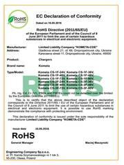 Европейский Сертификат соответствия СЕ,  Декларация о соответствии ТР Европейского Союза