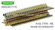 Гвозди для нейлера RK размером от 50 до 90 мм